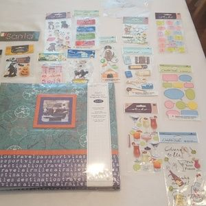 Brand-new travel scrapbook
